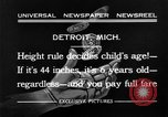 Image of height rule Detroit Michigan USA, 1932, second 6 stock footage video 65675070135
