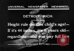 Image of height rule Detroit Michigan USA, 1932, second 7 stock footage video 65675070135