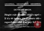 Image of height rule Detroit Michigan USA, 1932, second 10 stock footage video 65675070135
