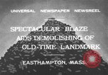 Image of ancient tower Easthampton Massachusetts USA, 1932, second 1 stock footage video 65675070136