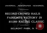 Image of horse Faireno New York United States USA, 1932, second 6 stock footage video 65675070137