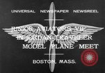 Image of model airplanes Boston Massachusetts USA, 1932, second 2 stock footage video 65675070138