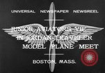 Image of model airplanes Boston Massachusetts USA, 1932, second 6 stock footage video 65675070138