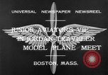 Image of model airplanes Boston Massachusetts USA, 1932, second 11 stock footage video 65675070138
