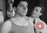 Image of boxer Milo Malagoli Italy, 1954, second 11 stock footage video 65675070192