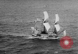 Image of ship Mayflower II Plymouth Massachusetts USA, 1957, second 6 stock footage video 65675070195