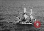 Image of ship Mayflower II Plymouth Massachusetts USA, 1957, second 7 stock footage video 65675070195