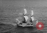 Image of ship Mayflower II Plymouth Massachusetts USA, 1957, second 8 stock footage video 65675070195