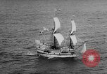 Image of ship Mayflower II Plymouth Massachusetts USA, 1957, second 9 stock footage video 65675070195