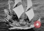 Image of ship Mayflower II Plymouth Massachusetts USA, 1957, second 10 stock footage video 65675070195