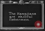 Image of fishermen Hawaii USA, 1924, second 1 stock footage video 65675070227