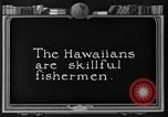 Image of fishermen Hawaii USA, 1924, second 2 stock footage video 65675070227