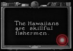 Image of fishermen Hawaii USA, 1924, second 3 stock footage video 65675070227