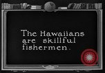 Image of fishermen Hawaii USA, 1924, second 4 stock footage video 65675070227