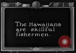 Image of fishermen Hawaii USA, 1924, second 7 stock footage video 65675070227