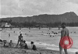 Image of Hawaiian people surfing Honolulu Hawaii USA, 1924, second 10 stock footage video 65675070228