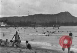 Image of Hawaiian people surfing Honolulu Hawaii USA, 1924, second 11 stock footage video 65675070228