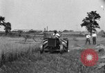Image of tractor-drawn binder United States USA, 1919, second 5 stock footage video 65675070232