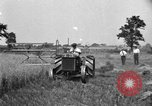 Image of tractor-drawn binder United States USA, 1919, second 6 stock footage video 65675070232