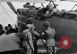 Image of Vickers machine gun on Brequet 14 airplane Colombey-les-Belles France, 1918, second 2 stock footage video 65675070263