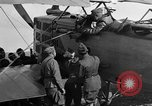 Image of Vickers machine gun on Brequet 14 airplane Colombey-les-Belles France, 1918, second 5 stock footage video 65675070263