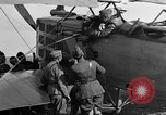 Image of Vickers machine gun on Brequet 14 airplane Colombey-les-Belles France, 1918, second 8 stock footage video 65675070263