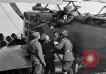Image of Vickers machine gun on Brequet 14 airplane Colombey-les-Belles France, 1918, second 10 stock footage video 65675070263