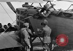 Image of Vickers machine gun on Brequet 14 airplane Colombey-les-Belles France, 1918, second 11 stock footage video 65675070263