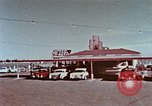 Image of drive-in restaurant Florida United States USA, 1958, second 9 stock footage video 65675070279