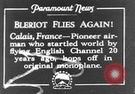 Image of Blériot flies his early XI airplane 20 years after his Channel flight Calais France, 1928, second 1 stock footage video 65675070308