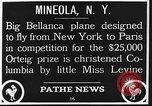 Image of Bellanca aircraft Mineola New York USA, 1928, second 2 stock footage video 65675070309