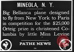 Image of Bellanca aircraft Mineola New York USA, 1928, second 7 stock footage video 65675070309