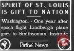 Image of Spirit of Saint Louis Washington DC USA, 1928, second 1 stock footage video 65675070310