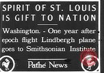 Image of Spirit of Saint Louis Washington DC USA, 1928, second 2 stock footage video 65675070310