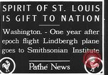 Image of Spirit of Saint Louis Washington DC USA, 1928, second 3 stock footage video 65675070310