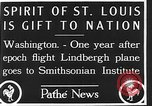 Image of Spirit of Saint Louis Washington DC USA, 1928, second 4 stock footage video 65675070310