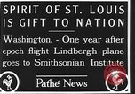 Image of Spirit of Saint Louis Washington DC USA, 1928, second 5 stock footage video 65675070310