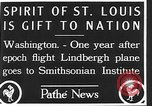 Image of Spirit of Saint Louis Washington DC USA, 1928, second 6 stock footage video 65675070310