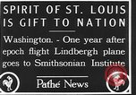 Image of Spirit of Saint Louis Washington DC USA, 1928, second 7 stock footage video 65675070310