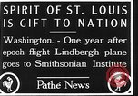 Image of Spirit of Saint Louis Washington DC USA, 1928, second 10 stock footage video 65675070310