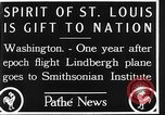 Image of Spirit of Saint Louis Washington DC USA, 1928, second 12 stock footage video 65675070310