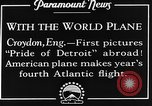 Image of American aviators Croydon London England United Kingdom, 1928, second 5 stock footage video 65675070312