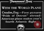 Image of American aviators Croydon London England United Kingdom, 1928, second 7 stock footage video 65675070312