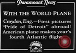 Image of American aviators Croydon London England United Kingdom, 1928, second 8 stock footage video 65675070312
