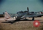 Image of P-47s of the USAAF 86th Fighter Group Corsica France, 1944, second 5 stock footage video 65675070348
