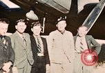 Image of American flyers escaped from Swiss internment Annecy France, 1944, second 1 stock footage video 65675070351