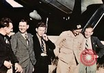 Image of American flyers escaped from Swiss internment Annecy France, 1944, second 4 stock footage video 65675070351