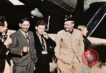 Image of American flyers escaped from Swiss internment Annecy France, 1944, second 5 stock footage video 65675070351