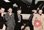 Image of American flyers escaped from Swiss internment Annecy France, 1944, second 7 stock footage video 65675070351