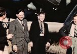 Image of American flyers escaped from Swiss internment Annecy France, 1944, second 10 stock footage video 65675070351